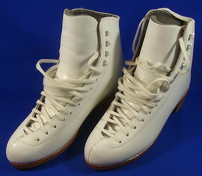 New Riedell 355 Silver Star Professional Figure Ice Skates Boots 6 White