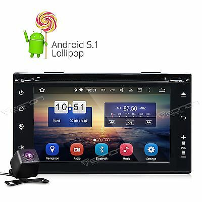 Camera+ ISO Double Din Android 5.1 Car Stereo DVD GPS NAV Sat BT CD DAB+ WiFi S