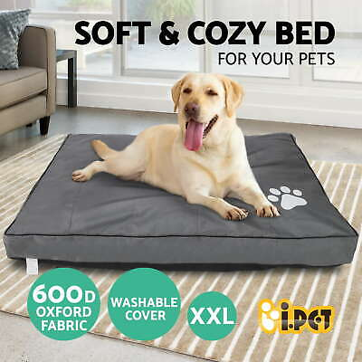 Pet Bed Mattress Dog Cat Pad Mat Deluxe Cushion Pillow Soft Canvas Washable XXL