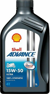 Shell Advance Ultra 15w-50 4T Motorcycle Oil Fully Synthetic 4 Litre 4L