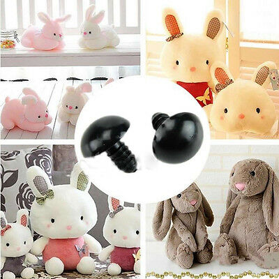 100 Plastic Black+Brown Safety Eyes For Teddy Bear Making Dolls Soft Toys 6-12mm