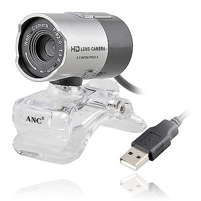 USB 2.0 Night Vision Webcam Web Camera Cam with Mic Microphone for Computer PC