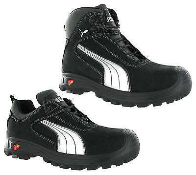 Puma Cascades Mid Low Black S3 Safety Midsole Toe Cap Mens Trainers Shoes Boots