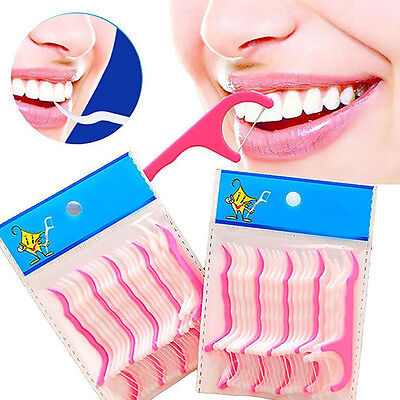 25-125PCS Dental Floss Pick Teeth Toothpicks Stick Oral Care Tooth Clean Novelty