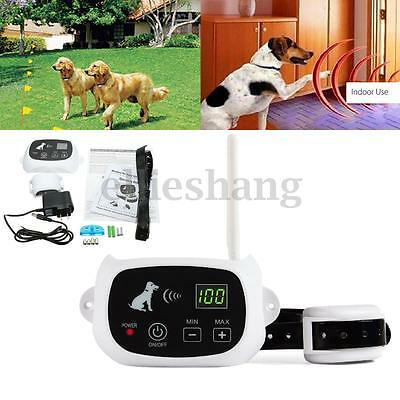 500m Wireless Pet Dog Fence Containment System Waterproof Rechargeable Collar UK