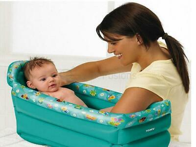 Tomy Inflatable Travel Baby Bath Soft Tub Toddler Infant Portable Bathtime