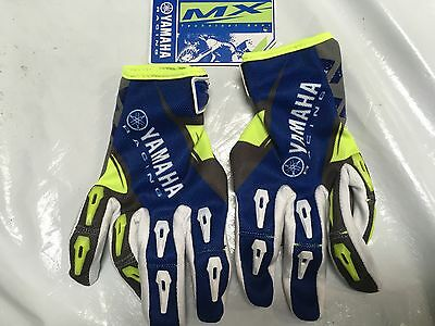 Yamaha Motocross Gloves Mx Foxhill New 2017 Blue Flo Green Genuine