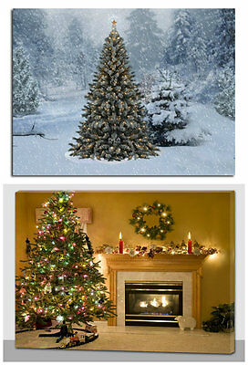 Christmas Decoration Light Up LED Canvas Wall Art Picture Fibre Optic Xmas Tree