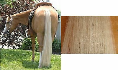 "1 Lb 36"" Natural White / Ivory 100% Genuine Horse Hair Tail Extension False Tail"