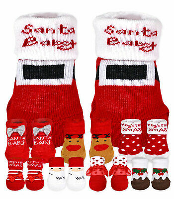 Unisex Baby Christmas Booties New Kids Boys Girls Novelty Sock Boots 0-12 Months