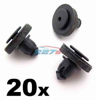 20x Volkswagen Transporter T5 Caddy Clips for Sliding Door Rail Cover 7H0843658A