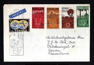 12983-TCHAD REPUBLIC-OLD LETTER COVER FORT-LAMY to GOUDA (holland) 1965.FRENCH