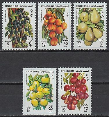 Irak Iraq 1980 ** Mi.1053/57 Freimarken Definitives Früchte Fruits Äpfel Apples