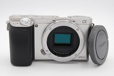 Sony Alpha A6000 24.3 MP Mirrorless Digital SLR Camera - Silver (Body Only)