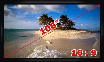 """Antra™ PSF-106A 106"""" 16:9 Fixed Frame Projector Projection Screen New PVC White"""
