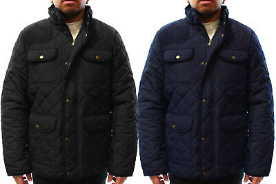 Chaps NEW Mens Corduroy Trim Quilted Puffer Utility Jacket $150