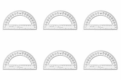 Sparco Plastic Protractor 6-Inch Long Clear (SPR01490) 6 Packs
