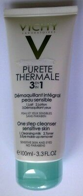 "Vichy ""purete Thermale 3 En 1"" Demaquillant Integral Visage 100 Ml Neuf"