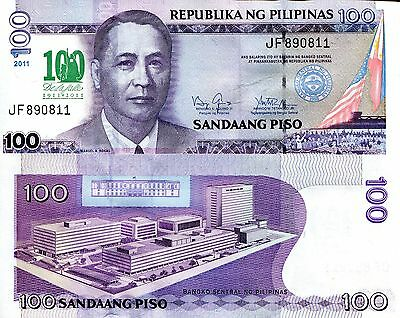 PHILIPPINES 100 Piso Banknote World Paper Money Currency Pick p212 Commemorative
