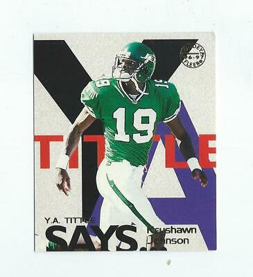 1997 Fleer Goudey Tittle Says #12 Keyshawn Johnson Jets