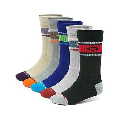 NEW Oakley Performance Basic Crew Assorted Colors Men's Size 5-9.5 (M) 5 Pack