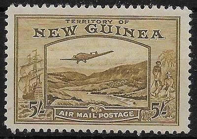 New Guinea Sg223 1939 5/= Olive-Brown Mtd Mint