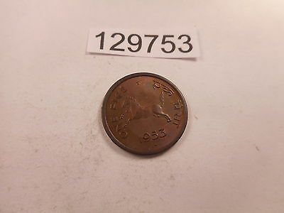 1953 India 1 Pice - Nice Collectible Unslabbed Album Coin - # 129753