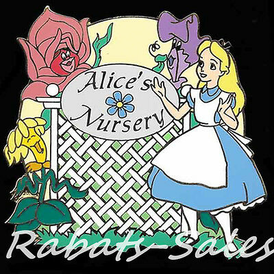 Alice's Nursery and Flowers - Disney Auctions Pin LE500 New On Card