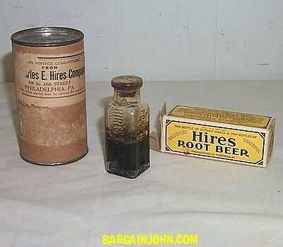 1929 Hires Root Beer Extract Sample with Storage Box and Instructions