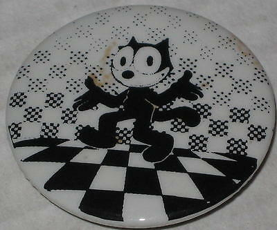 "Approx 1.75"" Felix the Cat Checkerboard Pin - Has Spots"