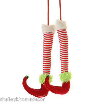 RAZ Elf Legs in Red and White Stripes 12.5 inches rzchhh 3316410 NEW