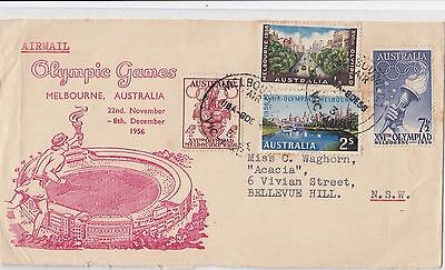 Olympic Games 1956 stamps set 4 Australia on Arnold Wheeler cover Melbourne