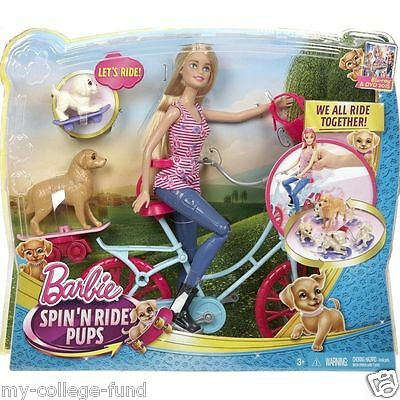 Barbie Spin N Ride Pups Playset CLD94 **New**