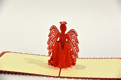 Handmade 3D Pop Up Happy Birthday Little Angel Love Anniversary Card