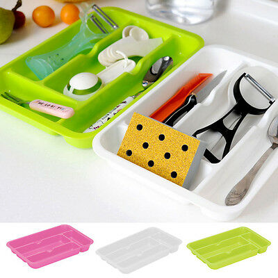 Hot Compartment Cutlery Tray Rack Kitchen Drawer Cabinet Organiser Tidy Holder