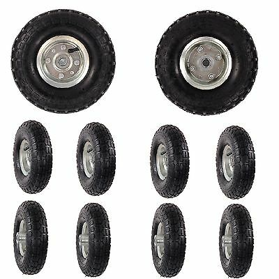 """10 x REPLACEMENT 10"""" INCH PNEUMATIC SACK HAND TRUCK TROLLEY WHEEL BARROW TYRE"""