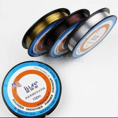 1 Roll Nylon Fluorocarbon Fishing Line Sea Super Strong Fishing Line 150m 2 Size