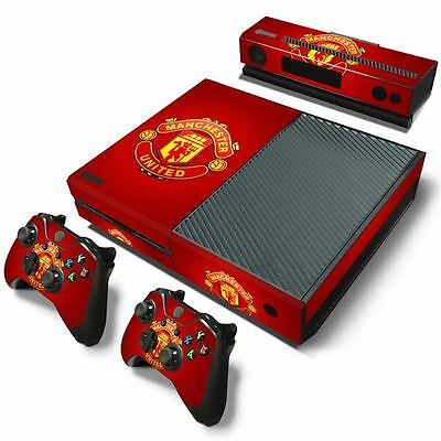 Manchester United FC Xbox One Skin Vinyl Decal Sticker Console & 2 Controllers