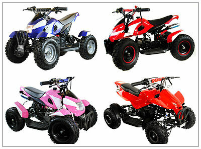 49cc ZIPPER UNISEX QUAD BIKE 2 STROKE PETROL OFF ROAD ATV AUTOMATIC BOYS NEW