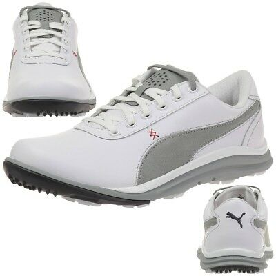 Puma BioDrive Leather Herren Golfschuhe Golf 188337 02 white
