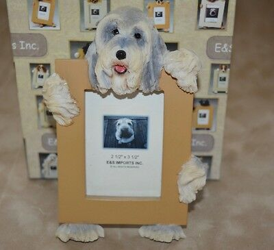 """NEW E&S Imports 2 1/2"""" x 3 1/2"""" Bearded Collie Frame"""