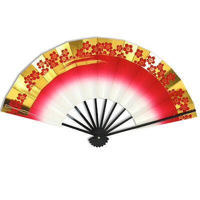 Japanese Odori Dance Hand Held SENSU Folding Fan Cherry Blossom/Made in Japan
