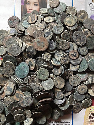 Medium quality Desert uncleaned Roman coins from Israel , Each Bid is per coin !
