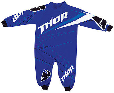 Thor S14 Motocross Infant Stripe Pajamas Blue 0-6 Months