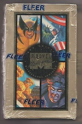 1994 Marvel Masterpieces Factory Sealed Hobby Box  Hildebrandt Brothers  Awesome