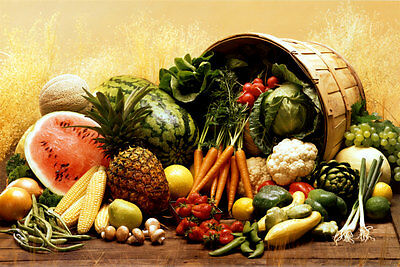 Fruit and Vegetables Poster Print, 36x24