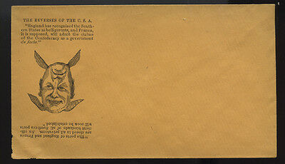 CIVIL WAR cachet ~ THE REVERSE OF THE C.S.A.