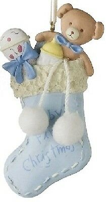 Blue Baby's First Christmas Boy Christmas Ornament