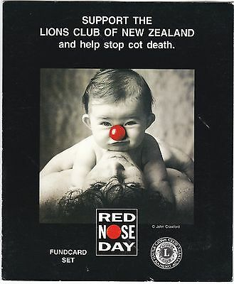 Nz 1994 Red Nose Day 2 X $5.00 Phonecard Pack / Set