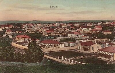 Nz Eltham Panorama View Postcard